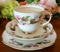 Duchess Bone China PInk Floral Tea Set Trio
