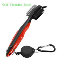 Golf Club Brush Set Retractable Reel with Spike Cover For Groove Shoes Cleaning