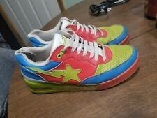 used mens size 11 Bathing Ape Bape shoes Red/Green/Blue/White