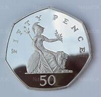 2005 Proof Fifty Pence Britannia  50p Coin Rare
