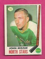 1969-70 OPC # 124 NORTH STARS JOHN MISZUK  GOOD  CARD (INV# C8275)