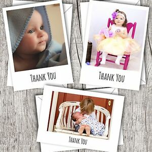 Personalised Photo THANK YOU Cards ~ Flat/Postcard ~ Baby/Child/Boy/Girl