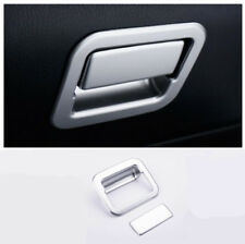 2* ABS Chrome Interior Storage Box Handle Cover Trim For Toyota RAV4 2013 - 2018