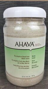 Ahava Dead Sea Salt Mineral Bath Salt Muscle Soothing Eucalyptus 32oz NEW