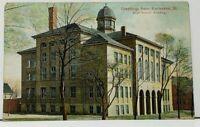 Kankakee Illinois High School Building 1908 to Hatlem Illinois Postcard I6