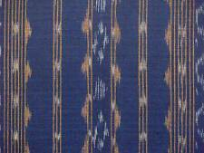 Fine Ikat Fabric Hand Loomed & Dyed Cotton Violet India Sewing DIY