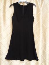 DKNY Black  V Neck Zipper Back Sleeveless Dress Sz 8