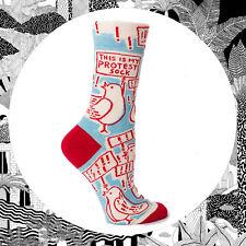 This Is My Protest Sock. Ladies Socks Gift Funny Activist Politics Sock Blue Q