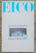 Original EICO 2715 / 2716 FM Receiver Operations Manual Free Shipping