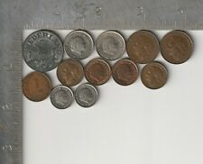 Netherlands Qty 12 Coin Lot dated 1900-1980 Dutch Guilder vintage pre-Euro coins