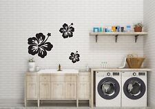 Hawaiian Flowers Set of Three Inspired Wall Art Vinyl Decal/Stickers in 4 size's