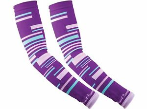 NEW - Pearl Izumi Select, Thermal-Lite Arm Warmers / Purple Stripes, Women M