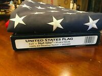 PREMIUM U.S.A. US AMERICAN FLAG 3'X5' & ROUGH TEX 600D USA FLAG 600D EMBROIDERED