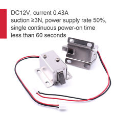2x 12V Door Drawer Electric Lock Tongue Upward Assembly Solenoid File Equipment