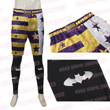 New Jared Leto Joker Costume Halloween Cosplay Shorts Leggings