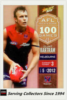 2013 Select AFL Champions Milestone Holofoil Card MG44 Clinton Bartram (Melb.)