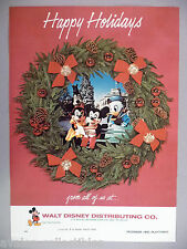 Walt Disney Distributing Holiday PRINT AD - 1972 ~~ Mickey Mouse, Donald Duck