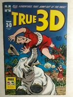 TRUE 3-D (1953) Harvey Comics glasses still attached  FINE-