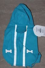 TOP PAW Dog Apparel TURQUOISE BLUE RAINCOAT XS REFLECTIVE + PROTECTION FOR TUMMY