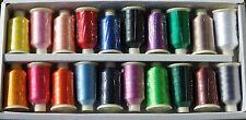 Marathon Viscose Rayon Embroidery Machine Thread 20 X 1 000m Spools MP Popular