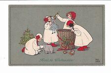 FROHLICHE WEIHNACHTEN  MERRY CHRISTMAS   Artist PAULI EBNER  pc  PU 1909
