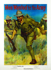 MEN WANTED FOR THE ARMY- MILITARY ISSAC HAZELTON VINTAGE WORLD WAR ONE
