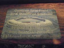 RFK MEMORIAL    Stadium seat PLAQUE  WASHINGTON REDSKINS