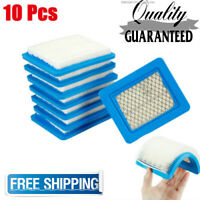 10Pcs Air Filter Lawn Mower Filters for Briggs & Stratton 491588 491588S 399959