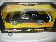 1 18 Ertl 1969 Dodge Charger R/T Hemi Black With Black Int & White Stripe 1/3749