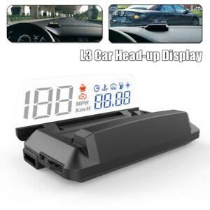 Car Universal HUD L3 OBD2 Heads Up Display Alarm Reminder w/ Reflection Board