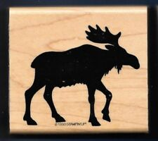 MOOSE SILHOUETTE Northern Forest Wildlife Animal Stampin' Up! 1998 RUBBER STAMP