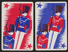 2 Single VINTAGE Swap/Playing Cards SOLDIER MEN ID 'PARADE MN-8-29'