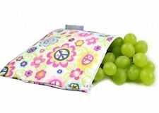 Itzy Ritzy Snack Happened Reusable Snack Bag in Peace and Love