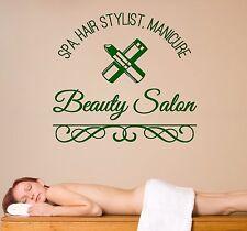 Wall Vinyl Decal Spa Hair Manicure Beauty Salon Decor z4575