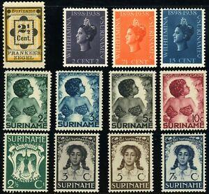 SURINAME #22 #164-166 #B22-B25 #B26-B29 Postage Stamp Collection Mint LH OG