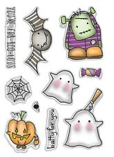 New Polkadoodles Clear Stamps Halloween Fab-Boo-Lous