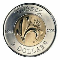 Canada 2 Dollars Toonie Coin Special 400th Anniversary of Quebec City, 2008