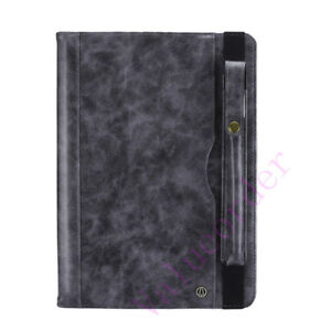 Leather Wallet Pen Card Slots Stand Cover Case for Apple iPad Pro  Air 3 Mini 5