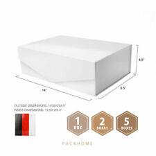 Large Gift Box Rectangular Bridesmaid Proposal Box Collapsible Foldable White
