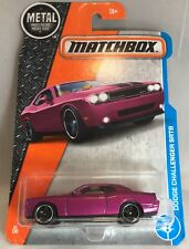 2017 Matchbox Die Cast Dodge Challenger SRT8 in Purple 21/125