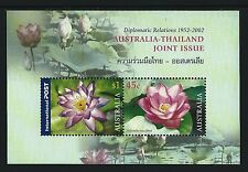 2002 Diplomatic Relations with Thailand Miniature sheet MUH