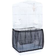 Adjustable Nylon Mesh Pet Bird Parrot Cage Seed Catcher Guard Cover Shell Skirt