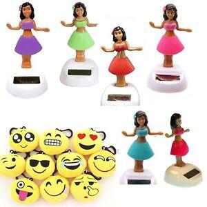 Dancing Hawaiian Solar Powered Hula Girls Bobble Head Plastic Toy Sun Catcher