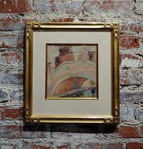 "Dana Bartlett -Venice Bridge ""Ponte Delle Tette"" Beautiful Painting c.1920s"