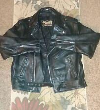 Manzoor Vintage Genuine Leather Biker Jacket, Black