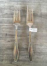 Vintage Holmes & Edwards Silverplate 2 Dinner Forks JAMESTOWN 1916