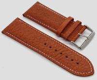 Echt Büffel Leder Uhrenarmband 32mm 34mm hellbraun Echtleder watch strap