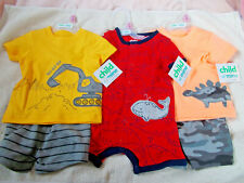 Child of Mine Baby Boy 0-3M Clothing Lot New with Tags