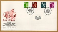 1991 Wales Machin Definitive Stamps FDC Cardiff Red Dragon SHS