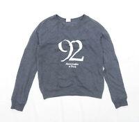 Abercrombie & Fitch Womens Size S Graphic Cotton Blend Grey Sweatshirt (Regular)